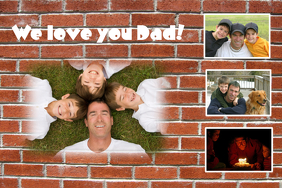 For Dad Sample poster