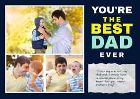 fathers day photo collage Postal template