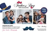Fathers Day Photography Mini Session Etiqueta template