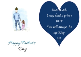 fathers day postcard Poskaart template