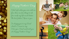 Fathers Day Poster Google+ omslagafbeelding template