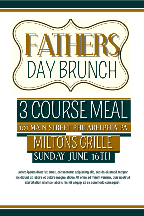 Fathers day Plakat template