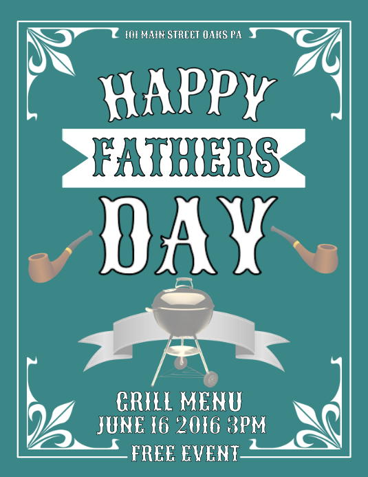 Fathers Day Flyer (format US Letter) template