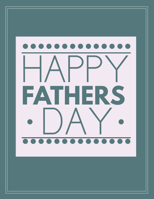 Fathers day Løbeseddel (US Letter) template