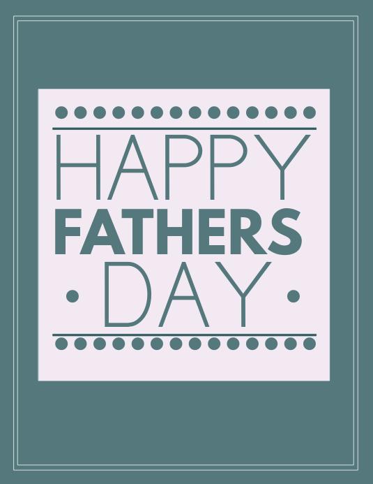 Fathers day Volante (Carta US) template