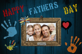 Father's Day Gift Wall Art Dad Family Photo