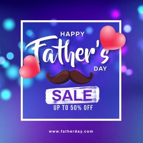 Father's day sale banner Instagram Post template