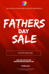 FATHERS DAY SALE Poster template