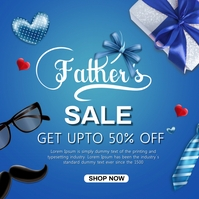 Fathers day sale Instagram-bericht template