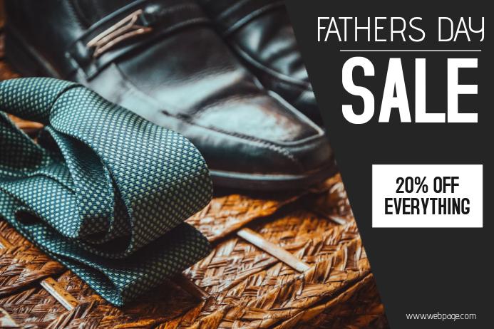 Fathers Day Sale landscape template Plakat