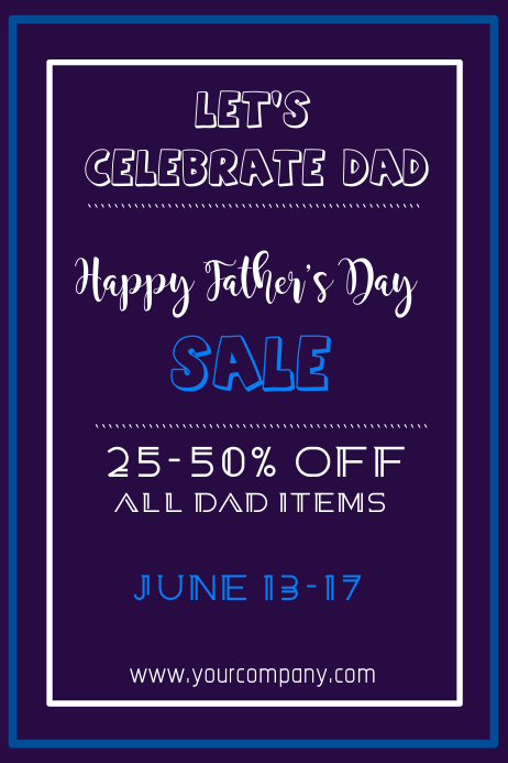 Fathers Day Sale Poster