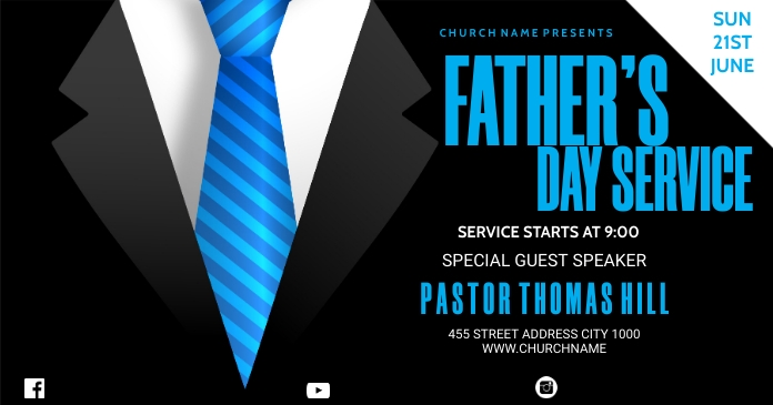 FATHERS DAY SERVICE Facebook 共享图片 template