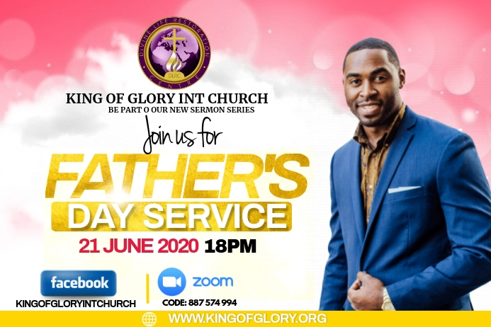 FATHERS DAY SERVICE FLYER Etiket template