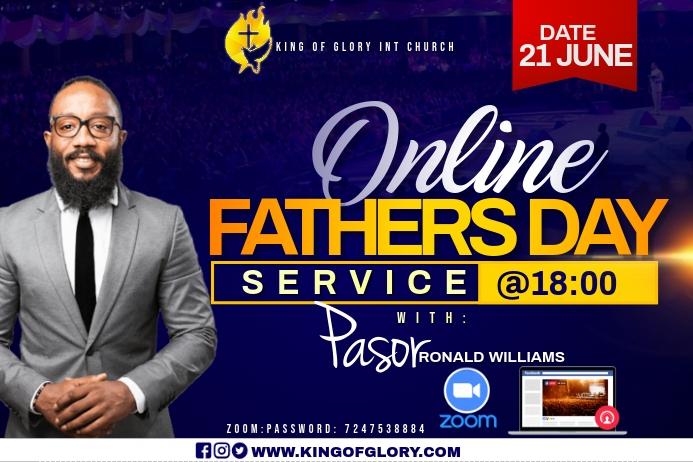 FATHERS DAY SERVICE FLYER Rótulo template