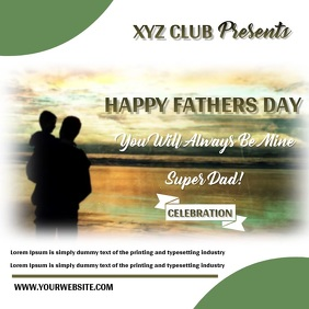 Fathers Day Template Design