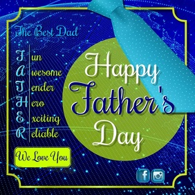 fathers day video3 Instagram 帖子 template