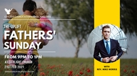FATHERS sunday church flyer Pantalla Digital (16:9) template