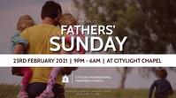 FATHERS sunday church flyer 数字显示屏 (16:9) template