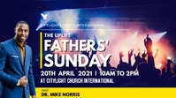 FATHERS SUNDAY church flyer 数字显示屏 (16:9) template