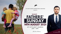 FATHERS sunday church flyer Tampilan Digital (16:9) template