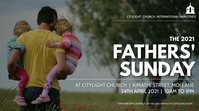 FATHERS sunday church flyer Ekran reklamowy (16:9) template