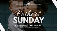 fathers SUNDAY church flyer Digital Display (16:9) template