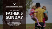 FATHERS SUNDAY CHURCH flyer Digitalanzeige (16:9) template