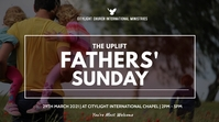 fathers SUNDAY flyer Display digitale (16:9) template