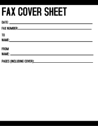Fax Cover Sheet Flyer (US Letter) template