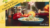 FB Cover Video Cooking Food Promotion template