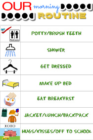 Morning Routine Schedule Flyer - Customizable