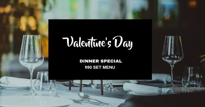 FB_Valentine Dinner Facebook Event Cover template
