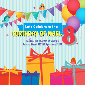 Birthday Instagram Invitation Template