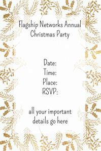 Holiday Christmas Party Event Flyer Poster Invitation