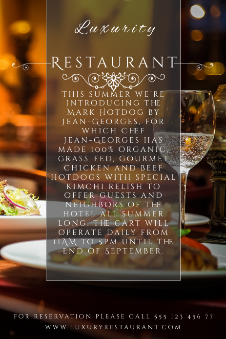 Restaurant Pinterest Image Template