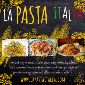 Pasta Facebook Shared Image Template