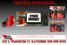Cyber Monday Kickboxing Special Poster template