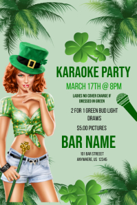 St. Patrick's Day Karaoke Party template