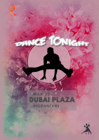 EDM night concert flyer template