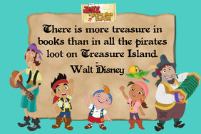 Disney School Books Inspirational Library Jake And The Neverland Pirates Peter Pan Quote Poster