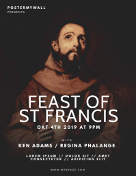 Feast of St Francis of Assisi Flyer Template
