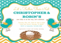 Feather Their Nest Baby Shower Invite