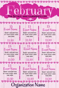 February Events Calendar