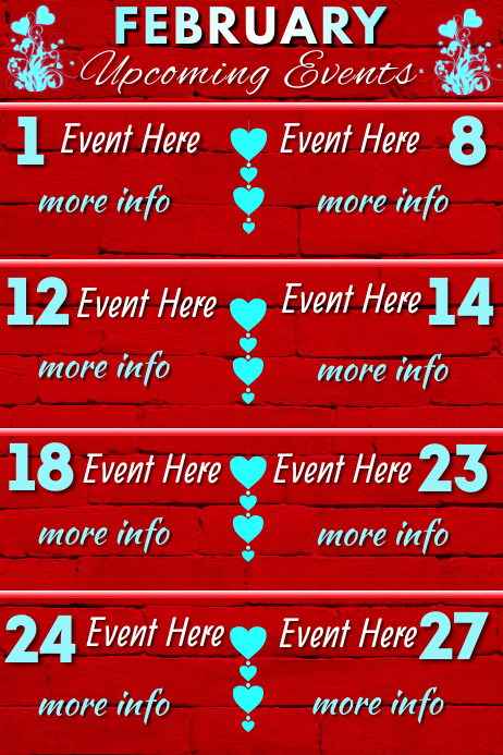 February Events โปสเตอร์ template