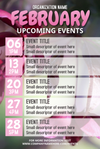 February Upcoming Event Flyer