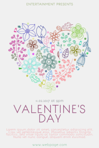 Fee Customizable Colorful Valentine's Day Poster Template