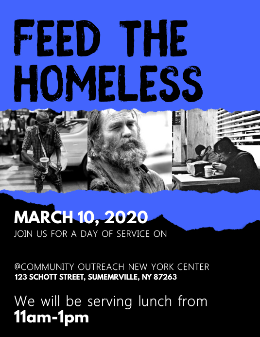 Feed For Homeless Flyer