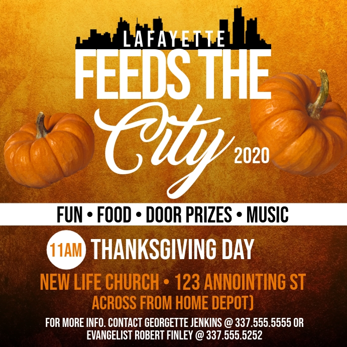 FEED THE CITY FLYER
