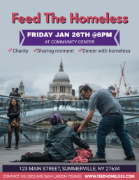 Feed the Homeless Event Flyer template