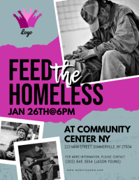 Feed The Homeless Flyer Pamflet (Letter AS) template
